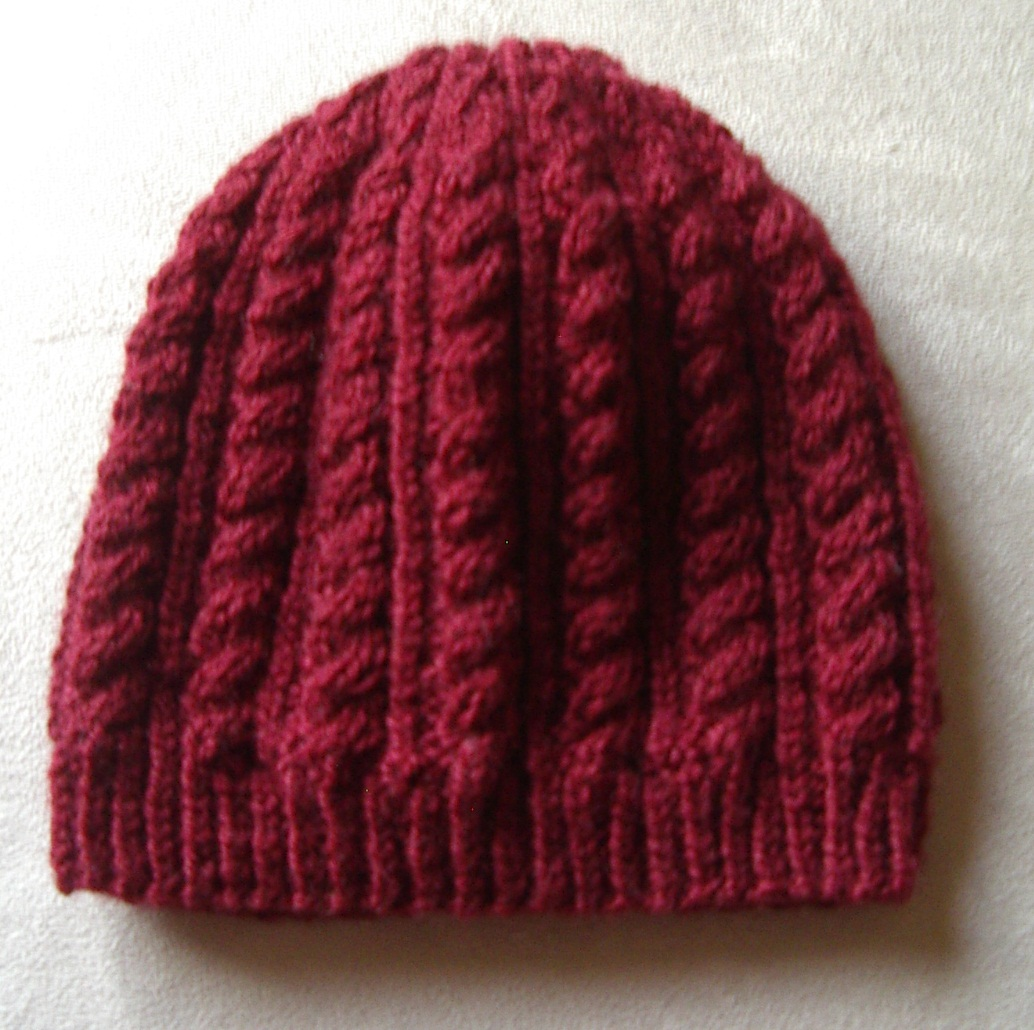 Knitting Pattern Baby Beanie 8 Ply : Knitting Patterns Online - Knitted Beanie, Scarf and ...